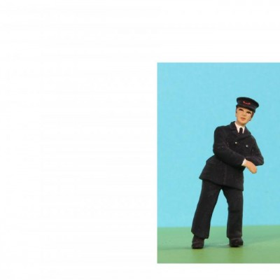 - General People Standing - 48/A072 Man in uniform leaning on rail