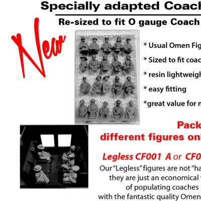 - 0 Gauge Coach Figures - CF001B Legless resin