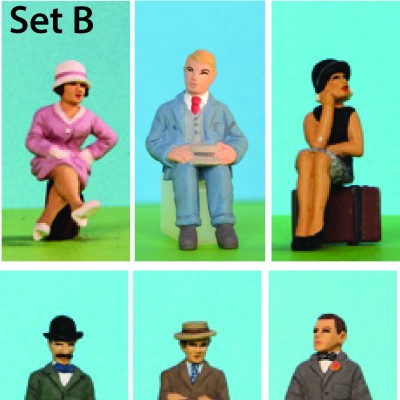 - 0 Gauge Coach Figures - Set B resin Pack of 6
