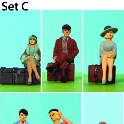 - 0 Gauge Coach Figures - Set C Resin Pack of 6