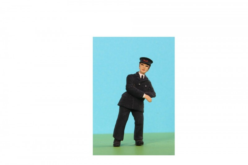 -  - 48/A072 Man in uniform leaning on rail