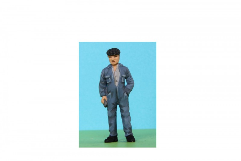 -  - 48/A186 Workman wearing boiler suit and cap