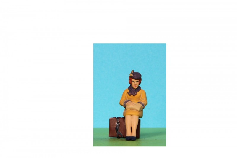 -  - 48/A213 Sitting woman looking in handbag