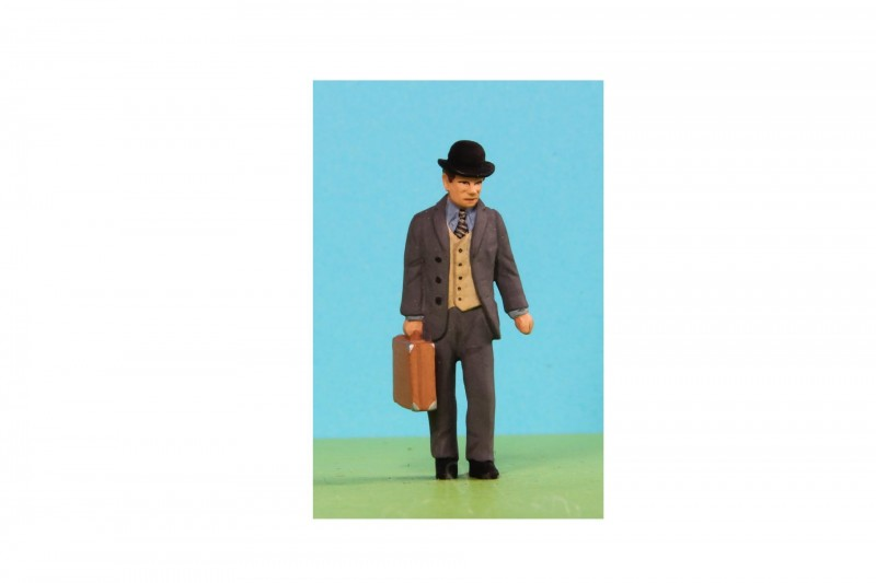 -  - A039 Man in bowler with suitcase